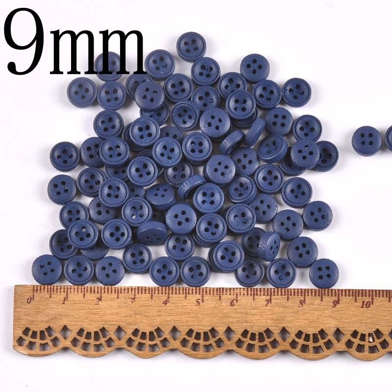 100 шт 9 мм/10 мм деревянные декоративные пуговицы для пришивания одежды Скрапбукинг ремесла домашний декор MT2519 - Цвет: 5