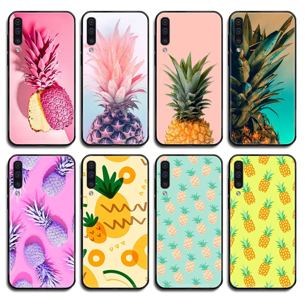 Colorful Fruit Pineapple <font><b>hoesjes</b></font> black Phone case cover hull For <font><b>Samsung</b></font> Galaxy <font><b>A</b></font> C Note 3 4 5 6 7 8 10 20 <font><b>40</b></font> 50 70 E S Plus Pro image