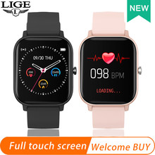 LIGE 2020 Neue Smart Uhr Frauen Herz rate blutdruck monitor sport Armband Voller touch display Multifunktionale smartwatch(China)