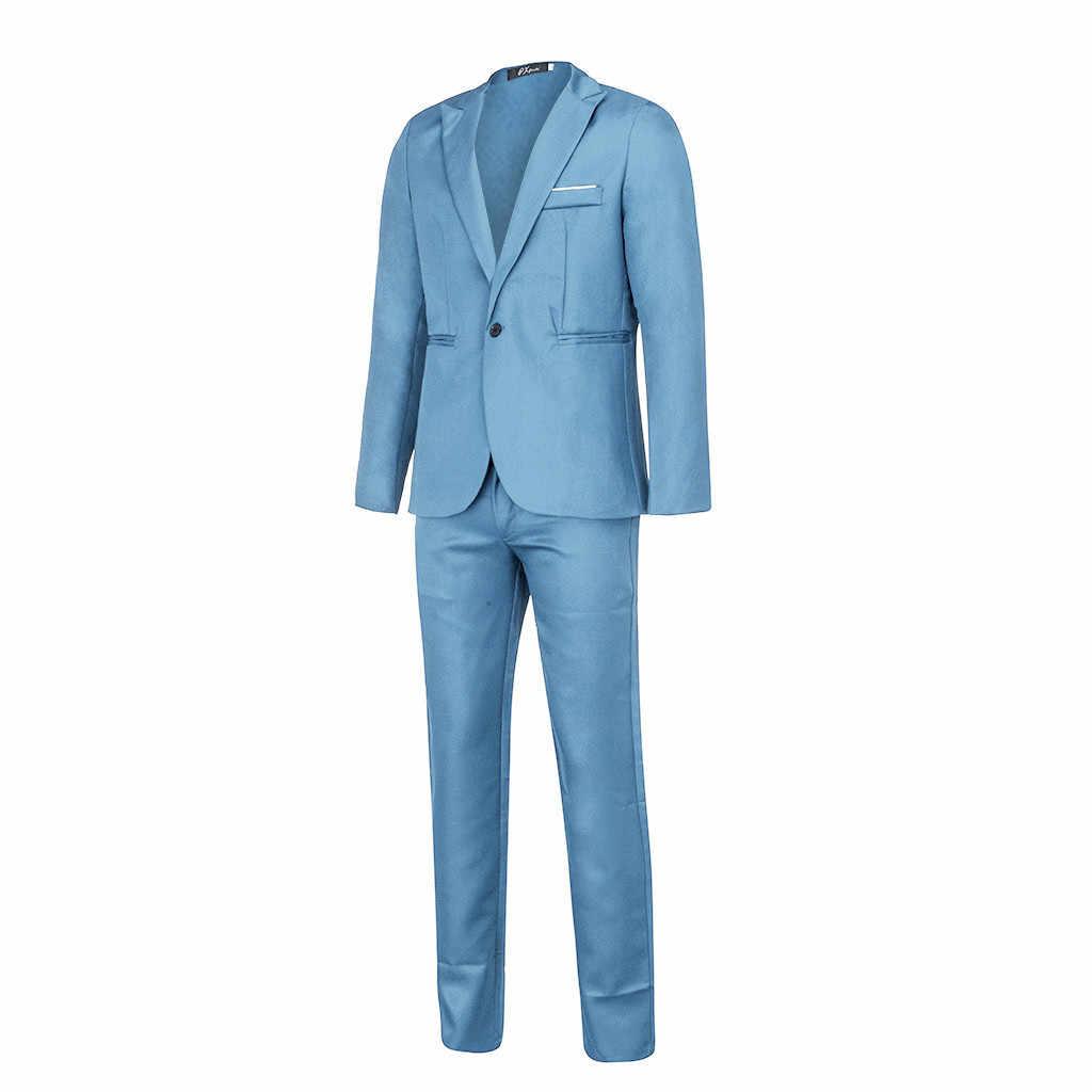Pak Mannen Slim Fit Blazer Pak 2Pc Set Mannelijke Bruiloft Blazers Man Formele Zakelijke Werkkleding Suits Kostuum homme Mariage Set # Y