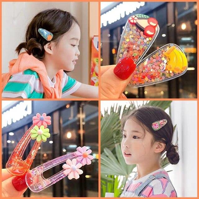 1 Set Cute Princess Fruit Hairpins Children Kids Hair Clips Pins Barrette Accessories for women girl Hairgrip Headwear Hairclip 2