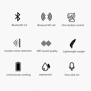 Image 4 - אלחוטי Bluetooth 5.0 אוזניות TW08 TWS מיני אוזניות אוזניות