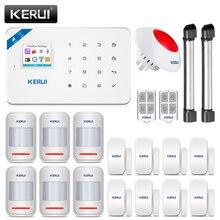 KERUI W18 GSM WIFI מעורר מערכת פורץ אבטחת בית APP מרחוק בקרת תנועה אש עשן גלאי דלת חלון חיישן DIY ערכת