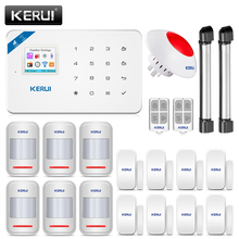 Kerui W18 gsm wifi警報システム盗難ホームセキュリティappリモコンモーション火災煙検出器ドア窓センサーdiyキット