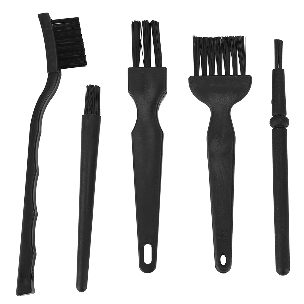 5pcs Computer Cleaning Kit Anti-Static Dusting Brush Portable Small Space​​ Cleaner Nylon Brush For Motherboards Keyboard