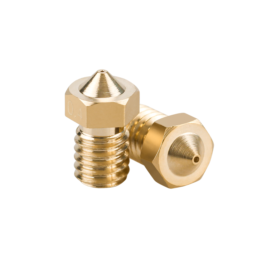 10Pcs E3D V6 Brass Nozzle 0.2/0.25/0.3/0.4/0.5/0.6/0.8/1.0 For 1.75mm 3mm Filament E3D V6  V5 Copper Nozzle Extruder Print Head