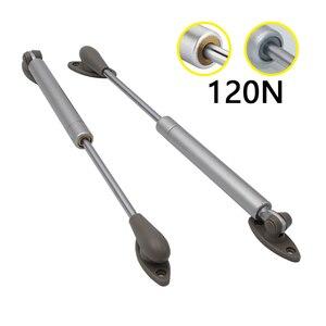 2 × hxm1806 120n/12 kg armário gás sturt ficar dobradiça haste de suporte de gás hidráulico para quadro de porta de armário de cozinha