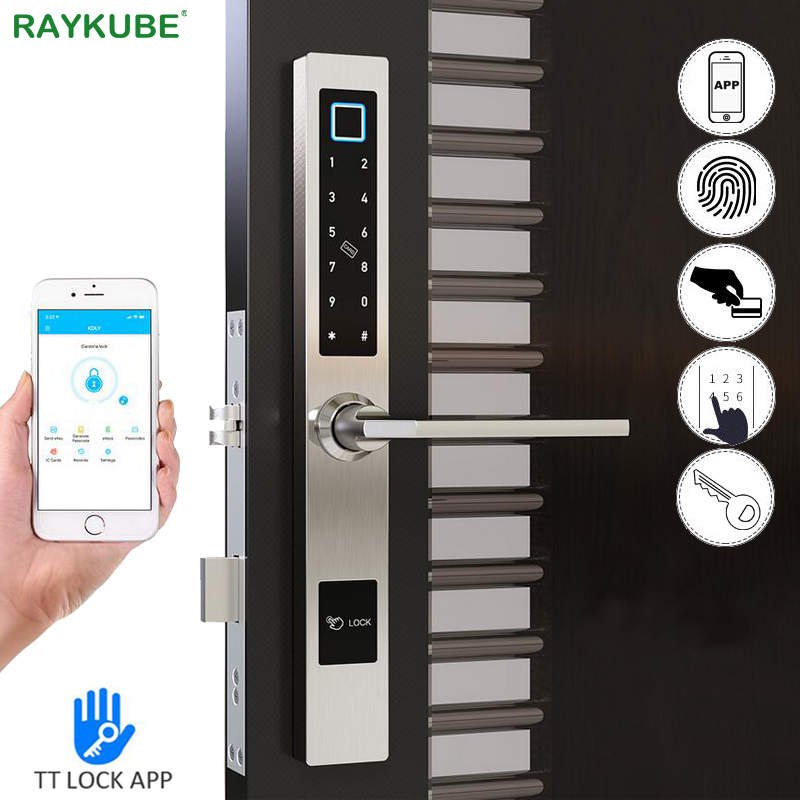 TT Lock APP Bluetooth Electronic Door Lock Waterproof Fingerprint Smart Card Support Temporary Password Broken Bridge Door Lock image