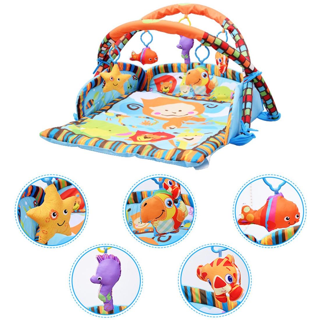 95X85 cm jeux de bébé support de gymnastique bébé ramper tapis bébé tapis de jeu tapis avec clôture à quatre côtés