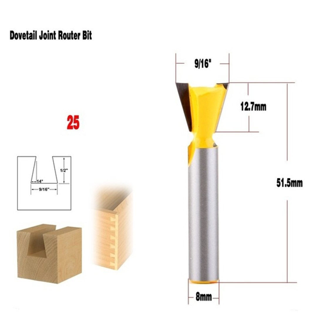 8mm Shank 14° Wood Router Bit Straight End Mill Trimmer Cleaning Flush Trim Corner Round Cove Box Bits Tools Milling Cutter