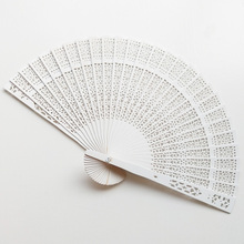 Folding Fan Hand-Fan Bamboo Decorative Wooden Dance-Party Party-Carved Chinese-Style