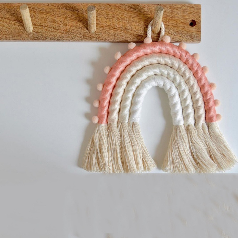 Hot DIY เชือกสายรุ้งแขวน Handmade เครื่องประดับ Nordic เด็กทารก Room Wall Decor Nursery แขวนอุปกรณ์ตกแต่งบ้าน