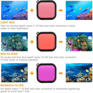 Image 3 - Accessory Kit for Gopro Hero 8 Black Waterproof Housing Case Tempered Glass Screen Protector Filter Kit For Go Pro accessories