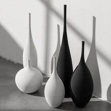 Jingdezhen Modern Minimalist Handmade Art Zen Vase Ceramic Ornaments Living Room Model Home Decoration