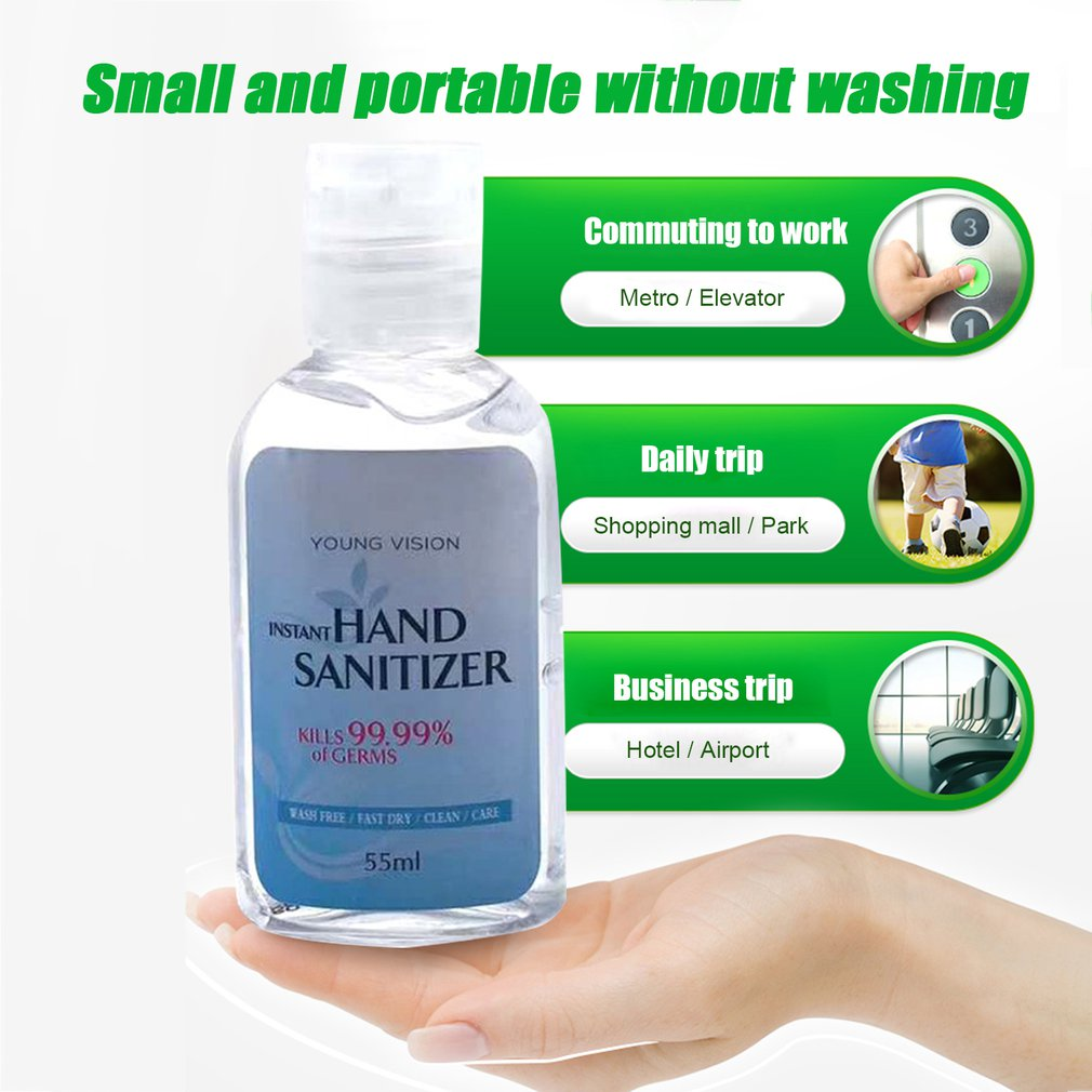 2020 New Portable Water-free Hand Sanitizer Antibacterial Gel Disinfection Portable Non-irritating Keep Clean 1 Pcs