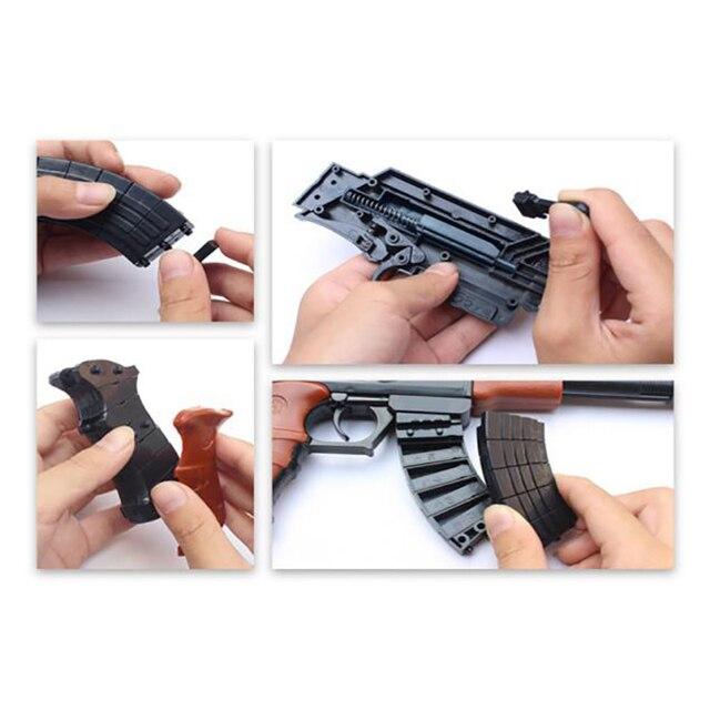 AK47 blocs de construction pistolet jouet pour enfants assemblé modèle bâtiment Shoot jouets éducatifs jouets de plein air cadeau de noël Bithday 125 126
