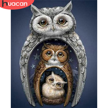 HUACAN Paint By Number Owl Hand Painted Painting Art Drawing On Canvas Gift DIY Pictures By Numbers Animal Kits Home Decor