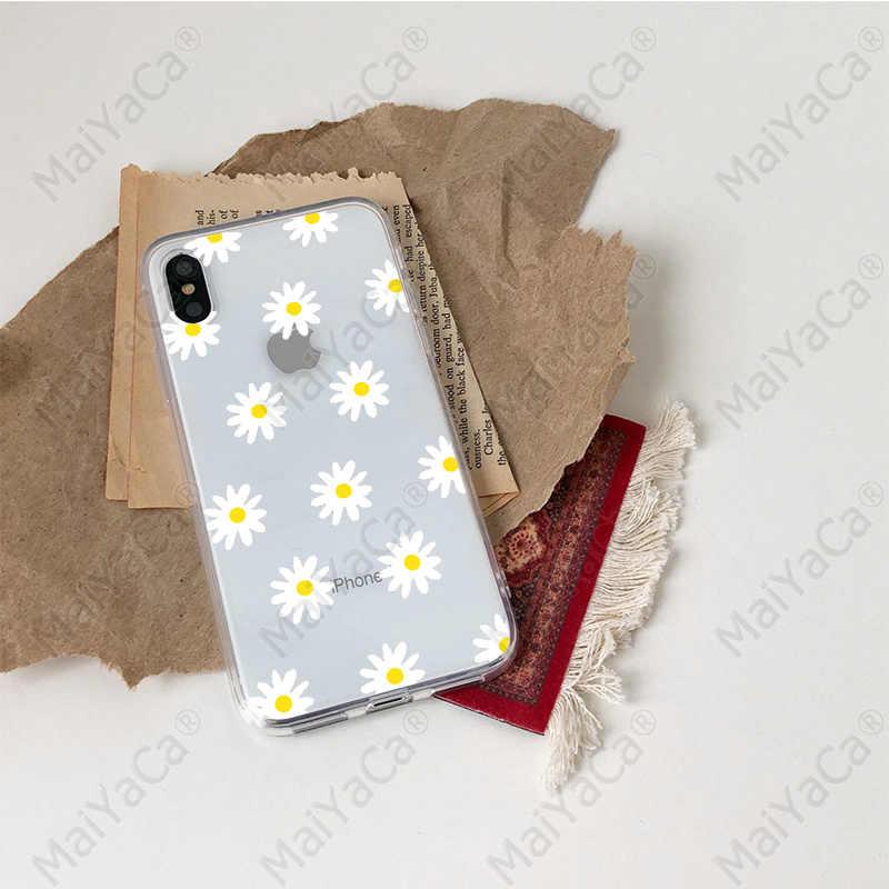 Babaite Mùa Hè nhỏ hoa cúc Ốp Lưng Điện Thoại Cho Iphone X XR XS Max 7 8 6 6 S Plus 5 5S SE hoa Mùa Hè Mềm TPU Ốp Lưng Silicone