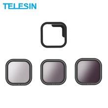 Telesin nd8 nd16 nd32 filtro magnético conjunto protetor de lente filtro nd para gopro hero 8 preto ação câmera lente accessoreis
