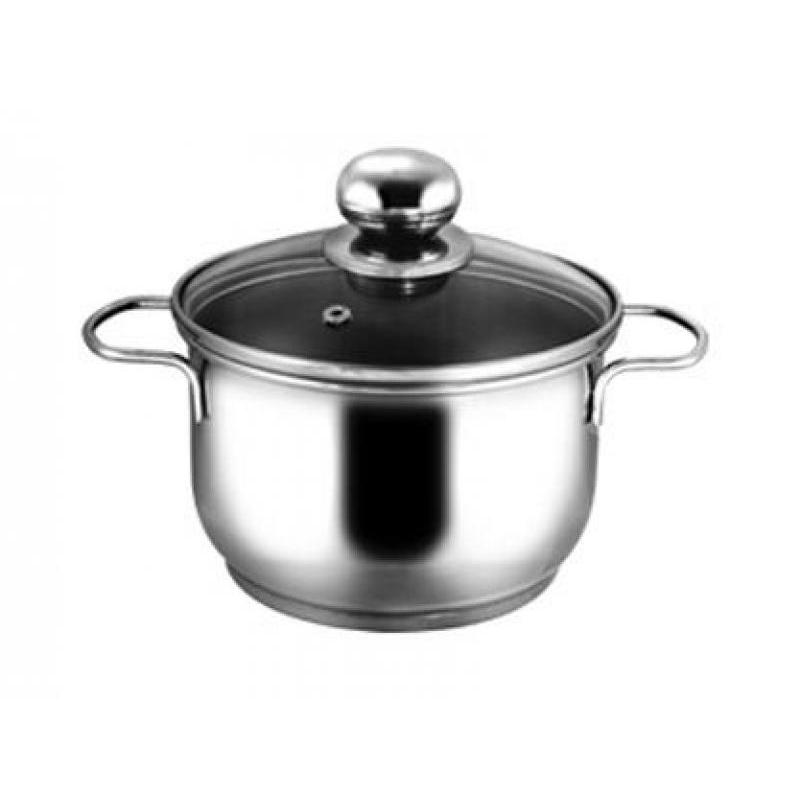 Pan АМЕТ, Classic-Prima, 1 L, with glass cover pan амет classic prima 1 l with metal cover