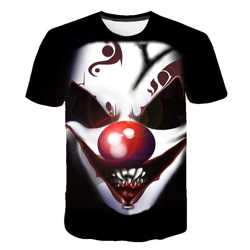 2019 children Horror Movie It Penny Wise Clown Joker 3D Print Tshirt Boys/Girls Hip Hop Summer Tee shirt 90s Boys Cool Clothes