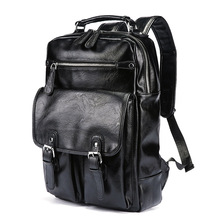Backpack mens Korean wave casual backpack bags computer large and medium-sized student fashion travel