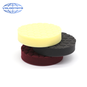 Image 2 - Hexagonal Pattern Type Buffing Pad with 5 Inch Hook and Loop USA Foam Sponge  Polishing Pads for Car Buffer Cars Polisher