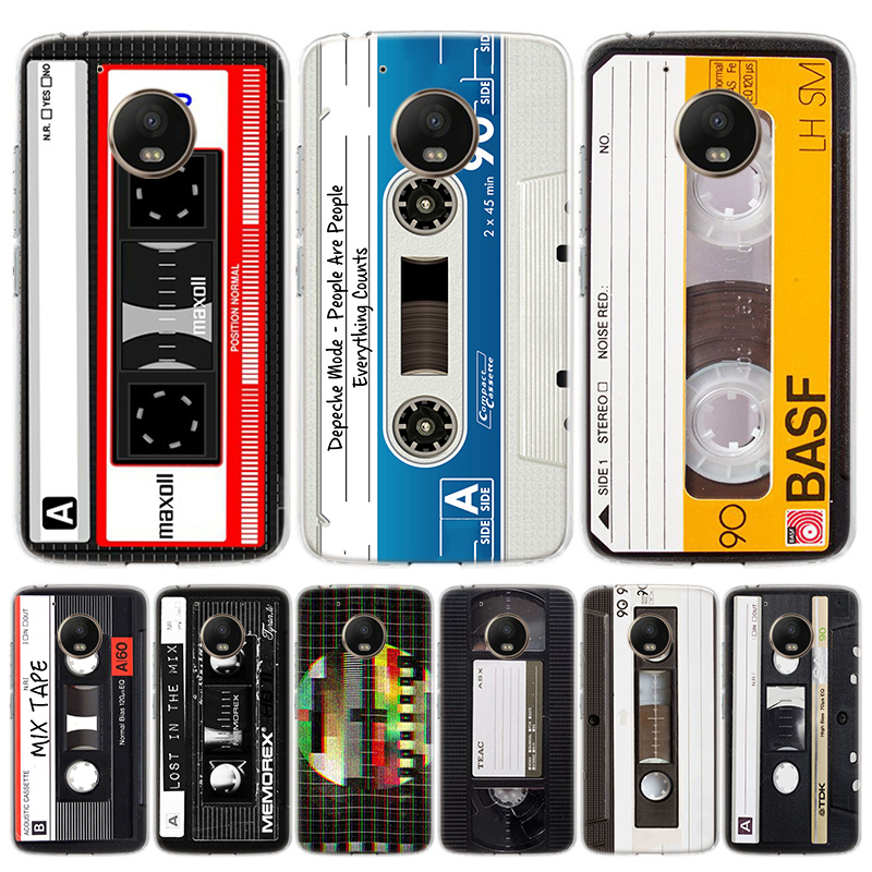 Vintage Magnetic Tape Cassette Phone Case For Motorola Moto G7 G8 G6 G5S G5 E6 E5 E4 Plus Power G4 One Action X4 EU Gift Coque C