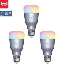1 4 pces yeelight inteligente lâmpada led 1s yldp13yl 8.5w rbgw trabalho com homekit AC100 240V 1700k 6500k e27 800lm mesa lâmpada de assoalho