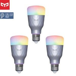 Image 1 - 1 4Pcs Yeelight Smart LED Bulb 1SE YLDP001 6W E27 RBGW Work With Homekit AC100 240V 1700K 6500K E27 800lm Desk Floor Table Lamp