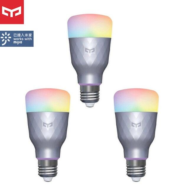 1 4Pcs Yeelight Smart LED Bulb 1SE YLDP001 6W E27 RBGW Work With Homekit AC100 240V 1700K 6500K E27 800lm Desk Floor Table Lamp