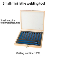 Turning tool set 11 pieces 12 handles 10 handles 8 handles aluminum box welding turning tool mini lathe set turning tool