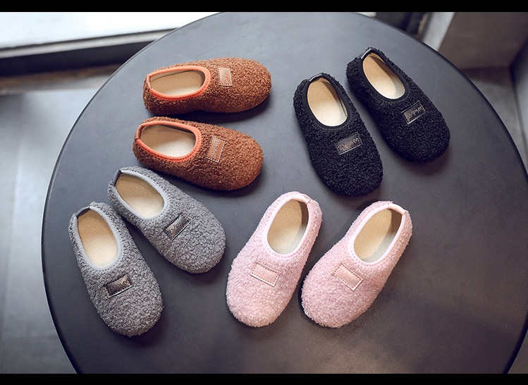 Spring Baby Slippers Boys Toddler Kids Girls Loafers Shoes Children Home Slippers Warm Crib Shoes Child Cotton Slippers Loafers