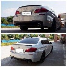 Para 2011-2017 BMW serie 5 M5 520, 528 de 525 F10 F18 P estilo de plástico ABS Color pintado Exterior trasera de coche ala de cola maletero Spoiler