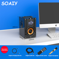 SOAIY Q22 Bluetooth Speaker Portable Wireless Speakers Stereo Subwoofer Big Power Bass Player Support LED Display FM Clock TF