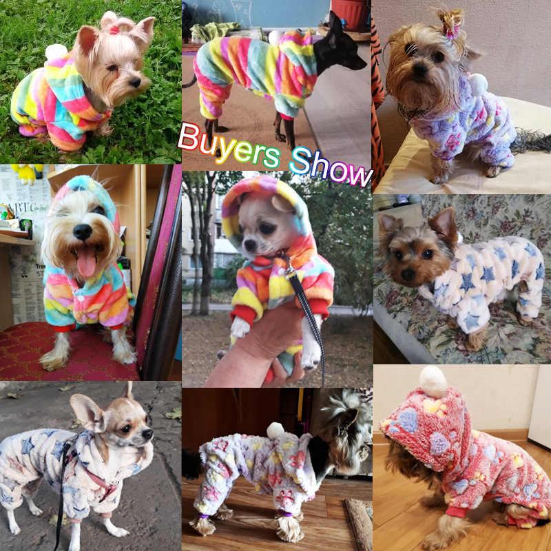 Vestiti del cane Pigiami In Pile Tuta di Inverno Vestiti Del Cane Quattro Gambe Caldo Pet Vestiti Vestito Cane di Piccola Taglia star Costume Abbigliamento 30