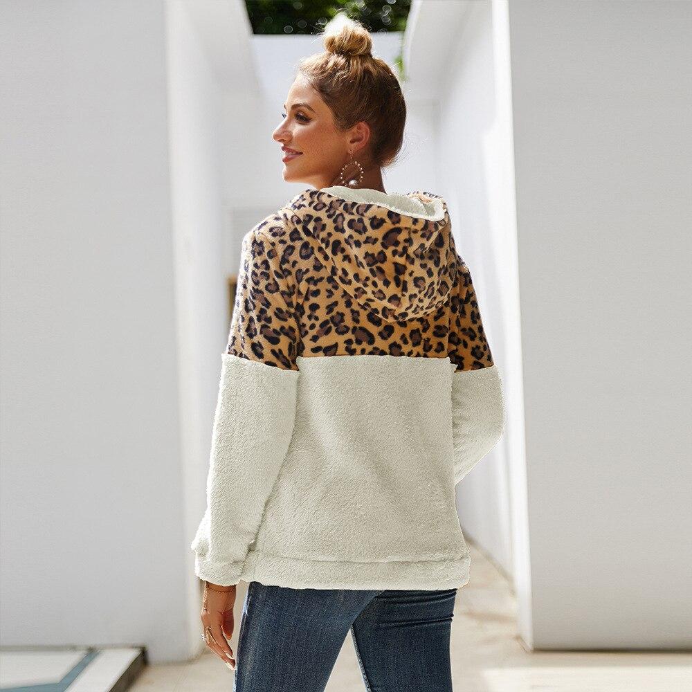 Streetwear Women Oversized Hooded Sweatershirt Women Long Sleeve  1