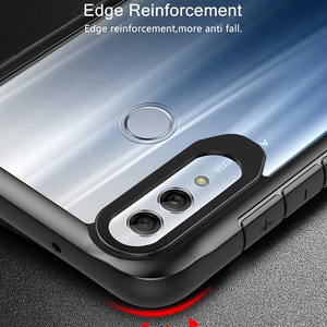 Image 2 - Case For Honor 10 Lite Case Shockproof Rugged Bumper Transparent Soft TPU Silicon Phone Protector Cover For Huawei P Smart 2019