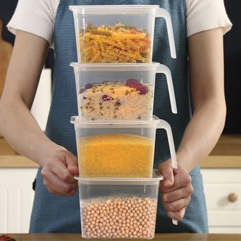 Food Storage Containers with Lids and Handles Sealed Food Crisper Keep Fresh Fridge Organizer Plastic Refrigerator Storage Box tanie i dobre opinie ND-Z1 Zaopatrzony Ekologiczne 15*15*10 5cm Modern Freshness Preservation