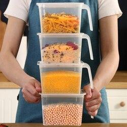 Food Storage Containers with Lids and Handles Sealed Food Crisper Keep Fresh Fridge Organizer Plastic Refrigerator Storage Box| |   -
