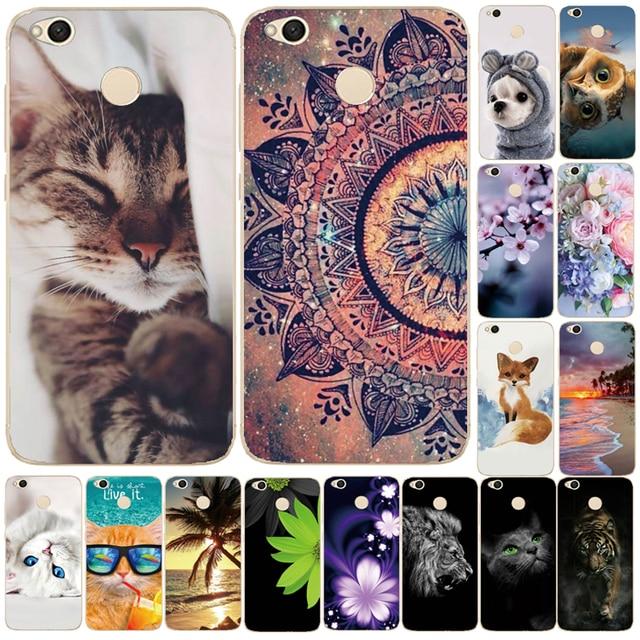 Case For Xiaomi Redmi 4X Cover Cute Bags Soft Silicone TPU Cover For Xiaomi Redmi 4X Case For Redmi 4X Phone Cases