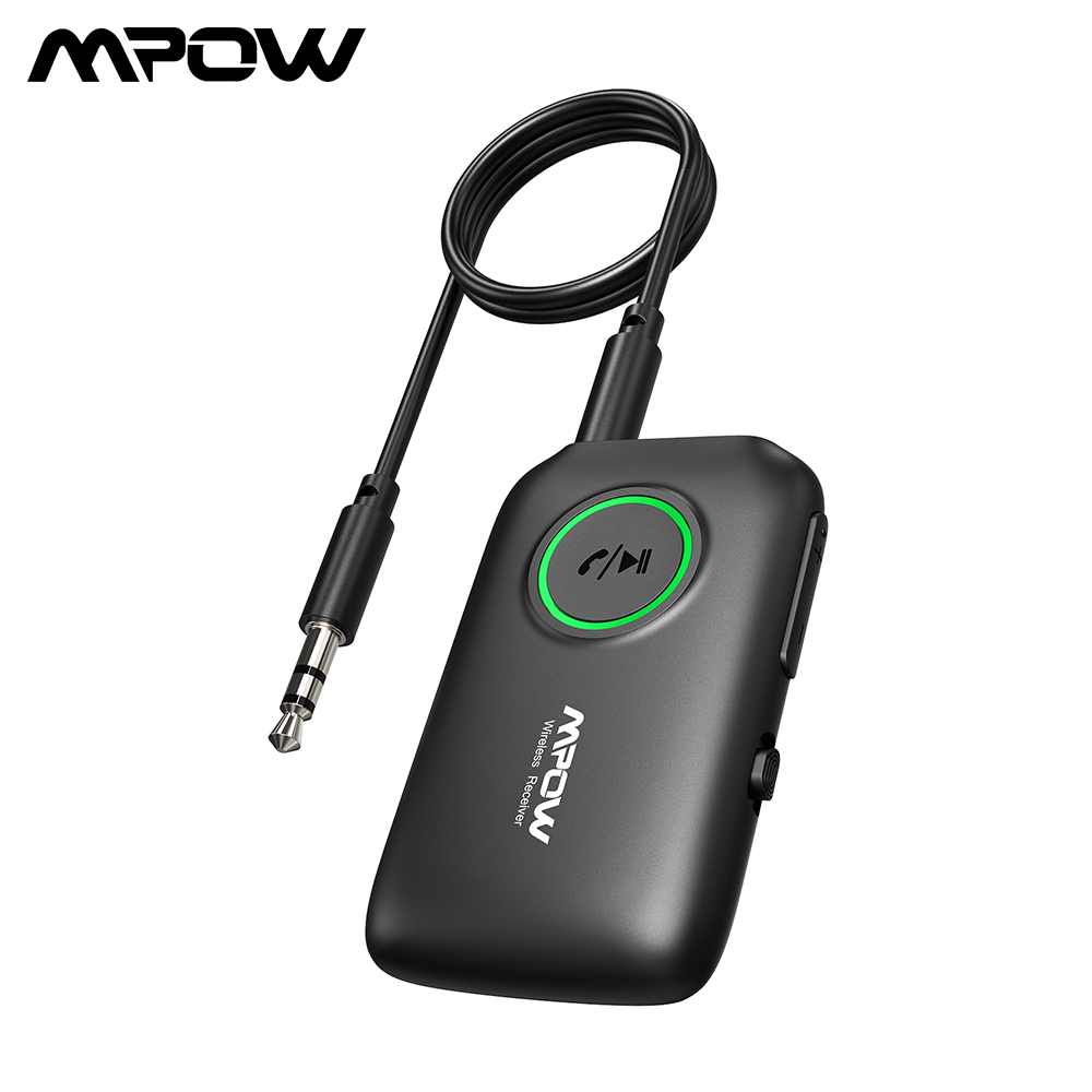 Mpow Bluetooth Receiver Transmitter 2 In 1 Bluetooth 5.0 Adapter AptX HD Audio CSR8675 Dual Link For TV Car Aux Port Home Stereo