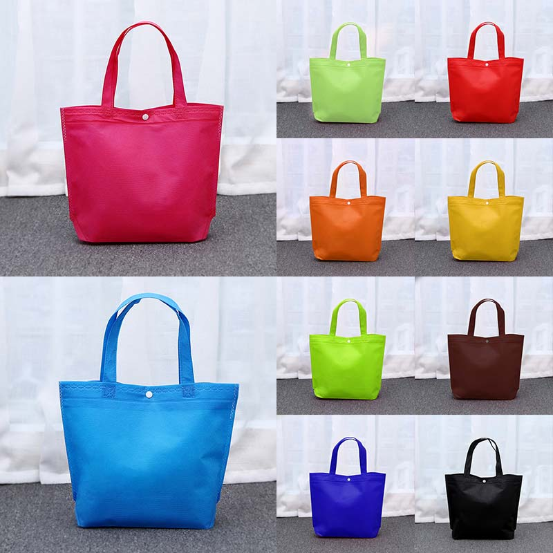New Shopping Bag Tote Pouch Foldable Non-woven Cloth Bags Unisex Women Grocery Eco Friendly Large Reusable Shoulder Bags