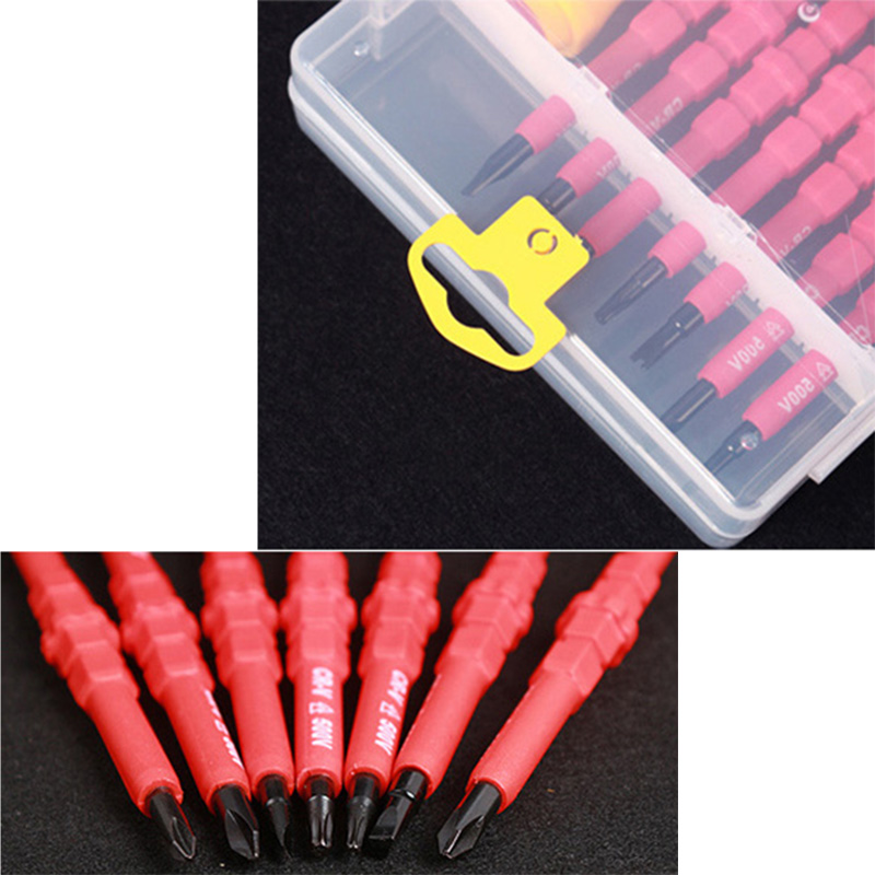8PCS VDE Electricians Screwdriver Set Tool Electrical Fully Insulated High Voltage Multi Screw Head Type in Screwdriver from Tools