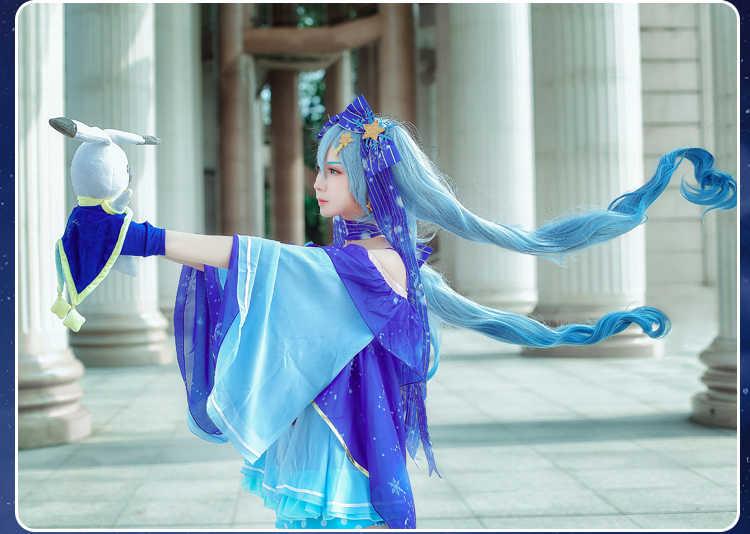 Nouveau Vocaloid Hatsune Miku Cosplay Costume neige Miku Cosplay déguisement + perruques ensemble complet carnaval Halloween Costumes pour les femmes