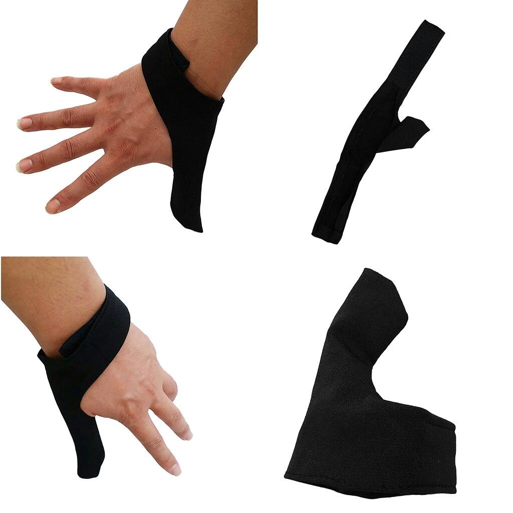 Set di 2 calze da Bowling Premium per pollice/custodia protettiva per pollice-misura per mano destra o sinistra-nero