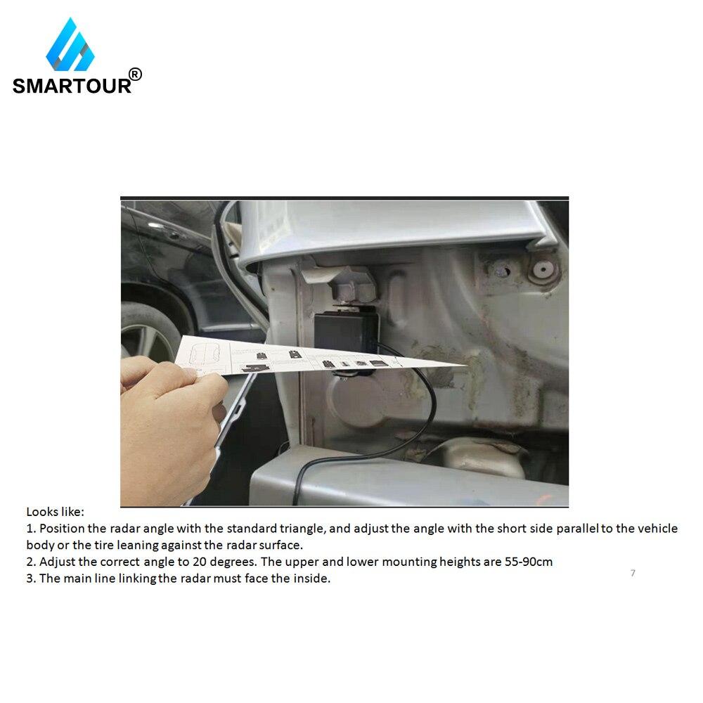 Smartour Car bsm bsd bsa czujnik pomocniczy cofania alarm dźwiękowy czujnik parkowania system monitorowania martwego punktu