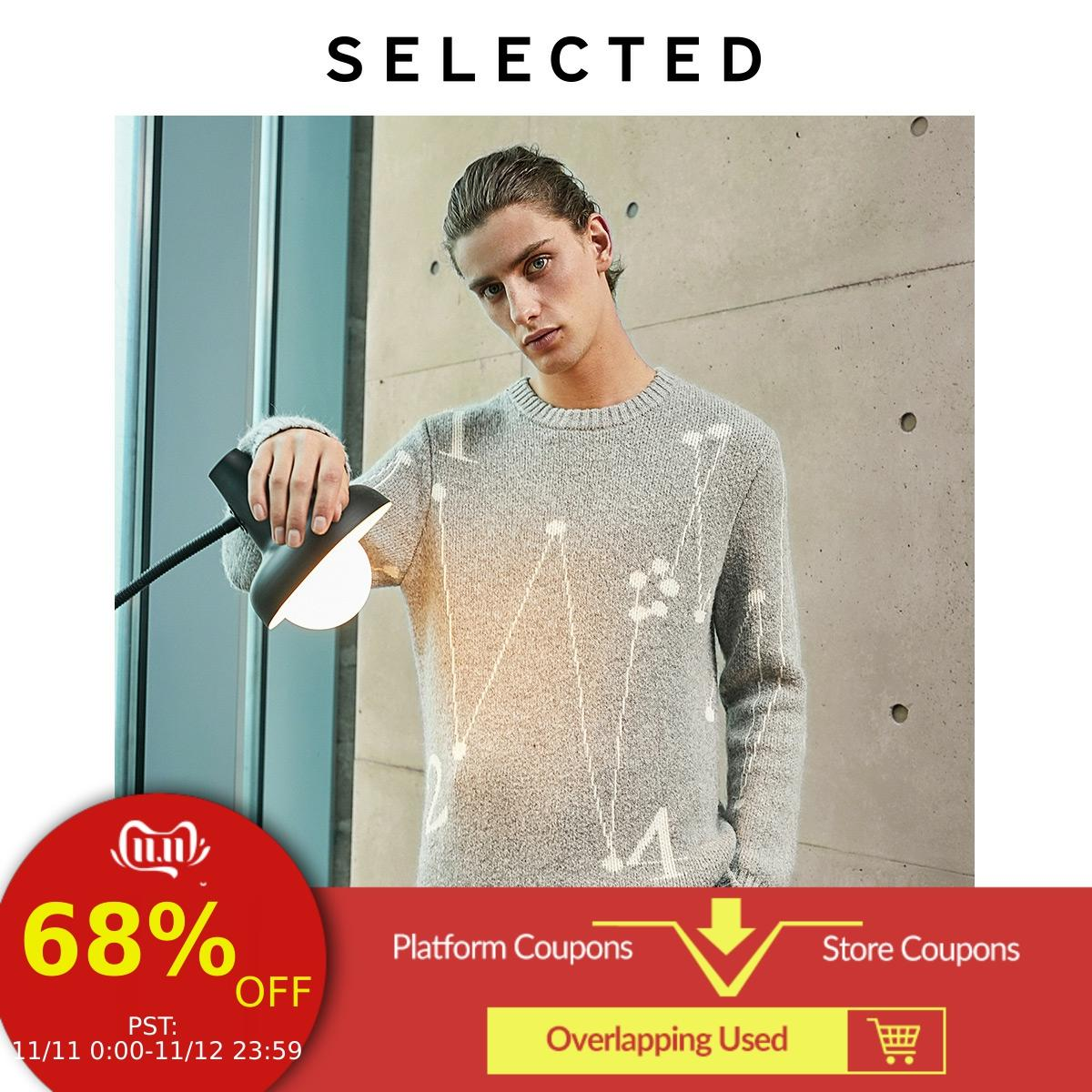 SELECTED Men's Autumn Figures & Lines Casual Knit LAB|419424529
