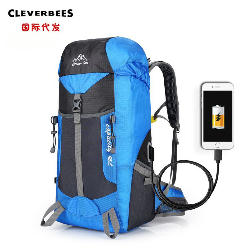 Multi-functional Charging Travel Mountaineering Bag Hiking Sports Outing Backpack Large Capacity Outdoor Travel Camping Backpack