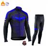 Strava equipe inverno velo térmico ciclismo roupas dos homens manga longa camisa terno equitação ao ar livre bicicleta mtb roupas bib calças conjunto 17